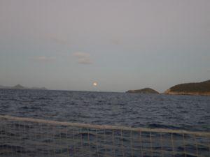 la lune sur Mayreau